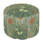 Butterflies and Poppies by Vincent van Gogh Pouf