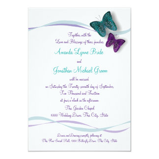 Butterflies and Ribbons Wedding Invitation