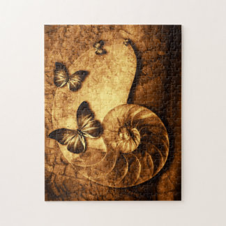 Butterflies and Shell Fossil Puzzle