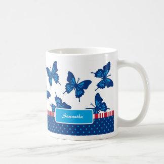 Butterflies and Stripes Mug