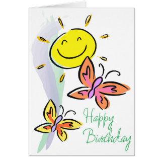 Butterflies and Sunshine BIrthday Card