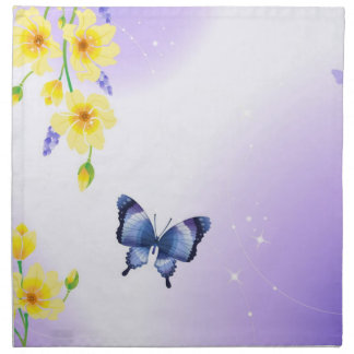 Butterflies and Sunshine Printed Napkin