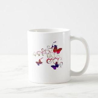 butterflies and swirls coffee mugs