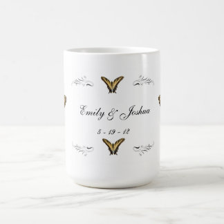 Butterflies and Swirls Mug
