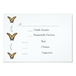Butterflies and Swirls rsvp card