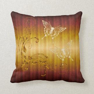 Butterflies and Swirls Throw Pillow