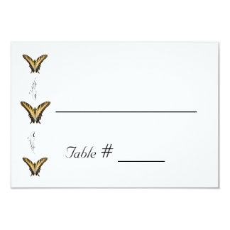 """Butterflies and Swirls wedding place card 3.5"""" X 5"""" Invitation Card"""