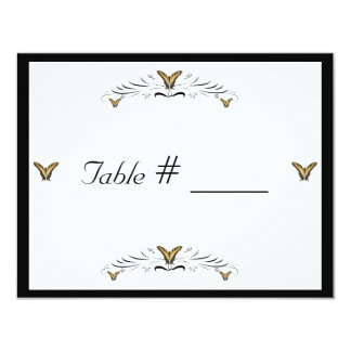 Butterflies and Swirls wedding table place card