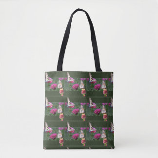 Butterflies and Zinnias Tote Bag