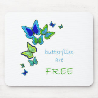 butterflies are free mousepad