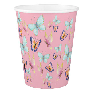 Butterflies are Free Paper Cup