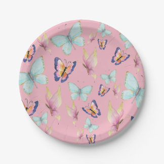 Butterflies are Free Paper Plate