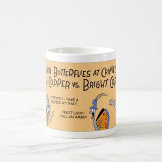 Butterflies at a crime scene coffee mug