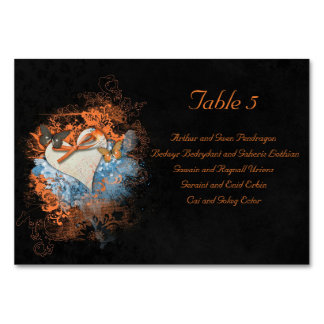 Butterflies at Samhain Handfasting Table Guests Table Cards
