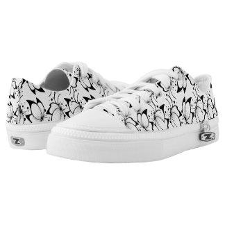 Butterflies B&W Zipz Low Top Shoes US Women