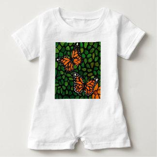 butterflies baby romper