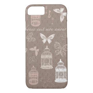 Butterflies Birdcages Words of Love iPhone 7 Case