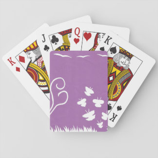 Butterflies, Birds and Plants basic playing cards