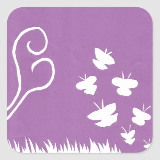 Butterflies, Birds and Plants Silhouette sticker