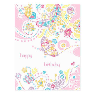 Butterflies Birthday Postcard