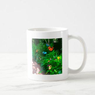 Butterflies Blue Digitized Coffee Mug