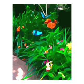 Butterflies Blue Digitized Letterhead