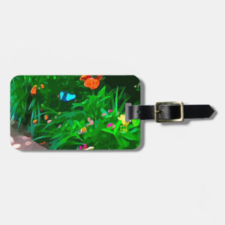 Butterflies Blue Digitized Luggage Tag