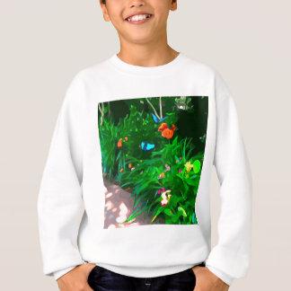 Butterflies Blue Digitized Sweatshirt
