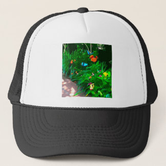 Butterflies Blue Digitized Trucker Hat