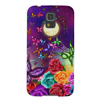 Butterflies By Moonlight Fairies Roses Butterflies Galaxy S5 Case