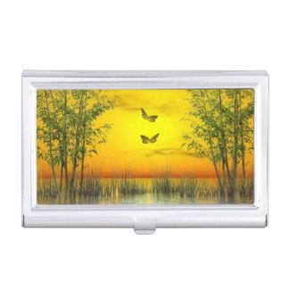 Butterflies by sunset - 3D render Business Card Holder