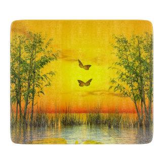 Butterflies by sunset - 3D render Cutting Board