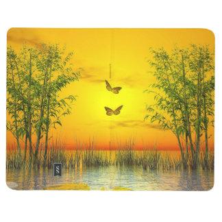 Butterflies by sunset - 3D render Journal
