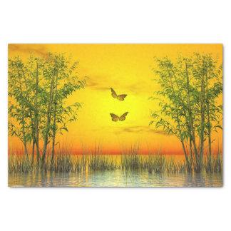 Butterflies by sunset - 3D render Tissue Paper