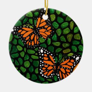 butterflies ceramic ornament