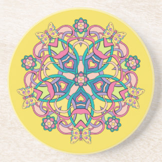 Butterflies Circle Design - Coaster