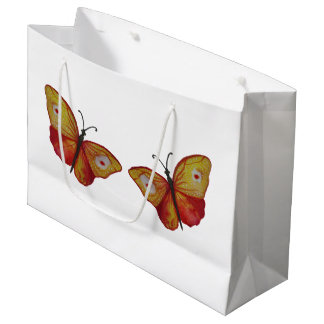 Butterflies Custom Gift Bag - Large, Glossy