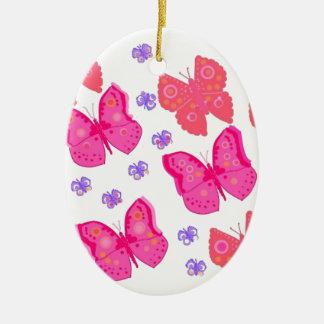 butterflies dig2.jpg ceramic oval ornament