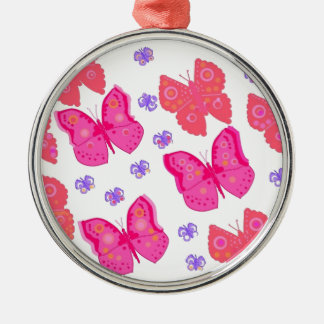 butterflies dig2.jpg Silver-Colored round ornament