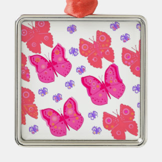 butterflies dig2.jpg Silver-Colored square ornament