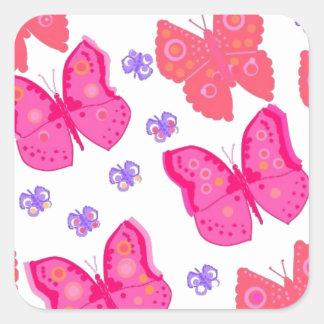 butterflies dig2.jpg square sticker