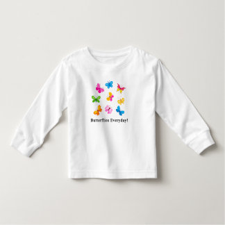 Butterflies everyday toddler t-shirt