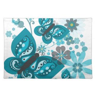 Butterflies & Flowers (blue) Placemat