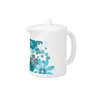Butterflies & Flowers (blue) Teapot