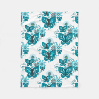 Butterflies & Flowers Fleece Blanket