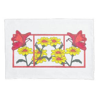 Butterflies & Flowers II Pillow Case Set