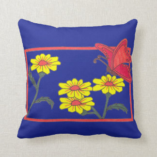 Butterflies & Flowers II Throw Pillow