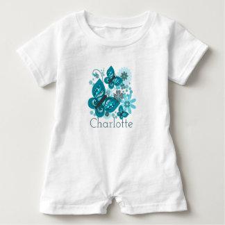 Butterflies & Flowers Personnalised Romper Suit
