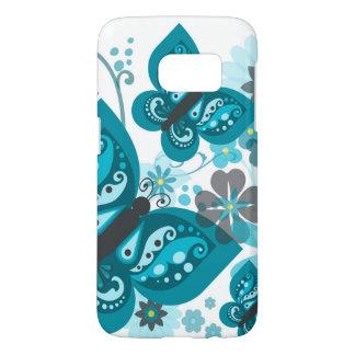 Butterflies & Flowers Samsung Galaxy S7 Case