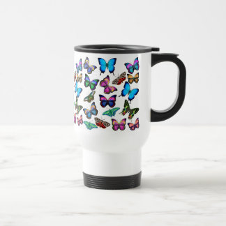 Butterflies Fluttering By Travel Mug